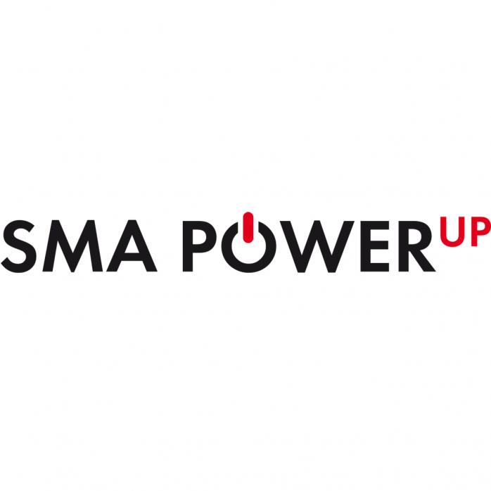SMA Power Up logo on white background