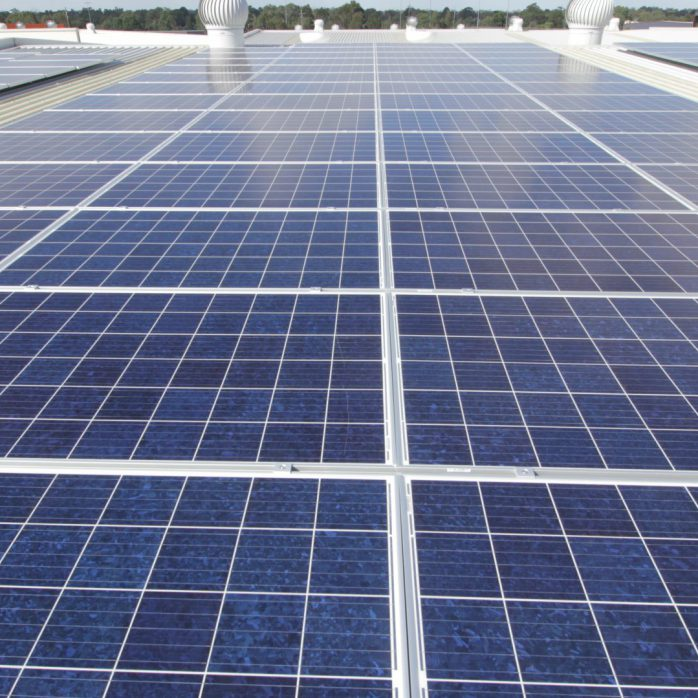 sydney solar energy installed on the factory rooftop