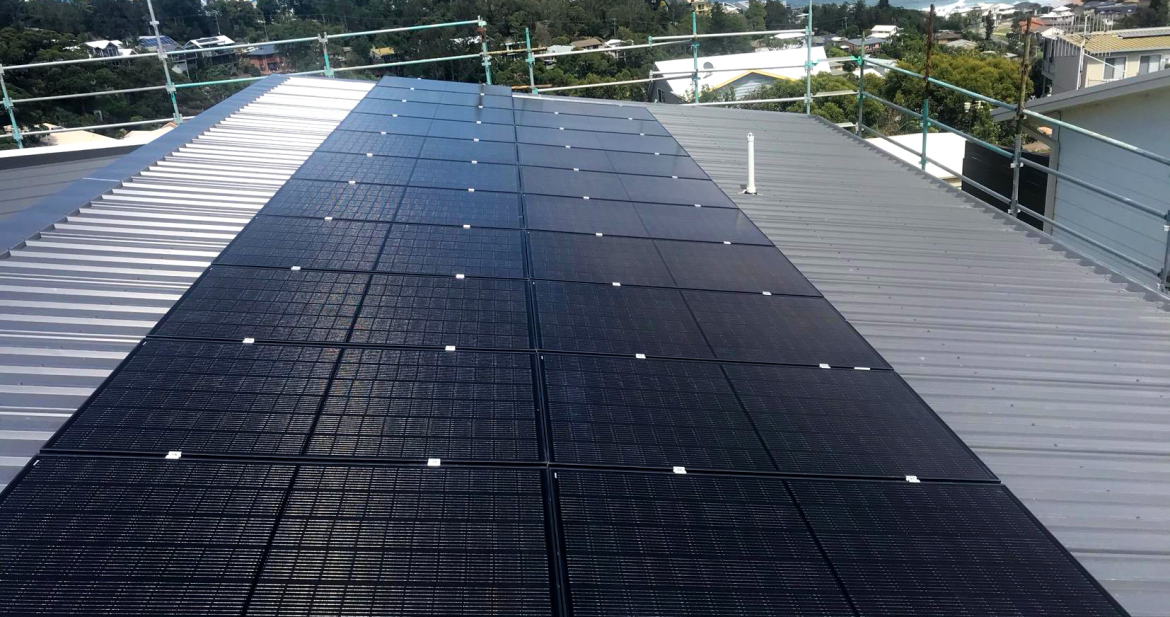 Solar Installation on the rooftop situated at Wollongong